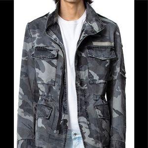 Zadig & Voltaire Mens Bernard Camo Jacket Size L